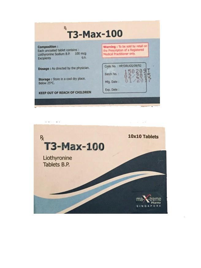 Generic Triiodothyronine T3 Max 100mcg